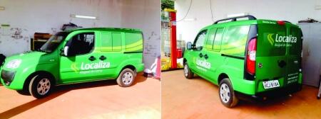 Imagem de serviço de envelopamento de veículo empresa Localiza