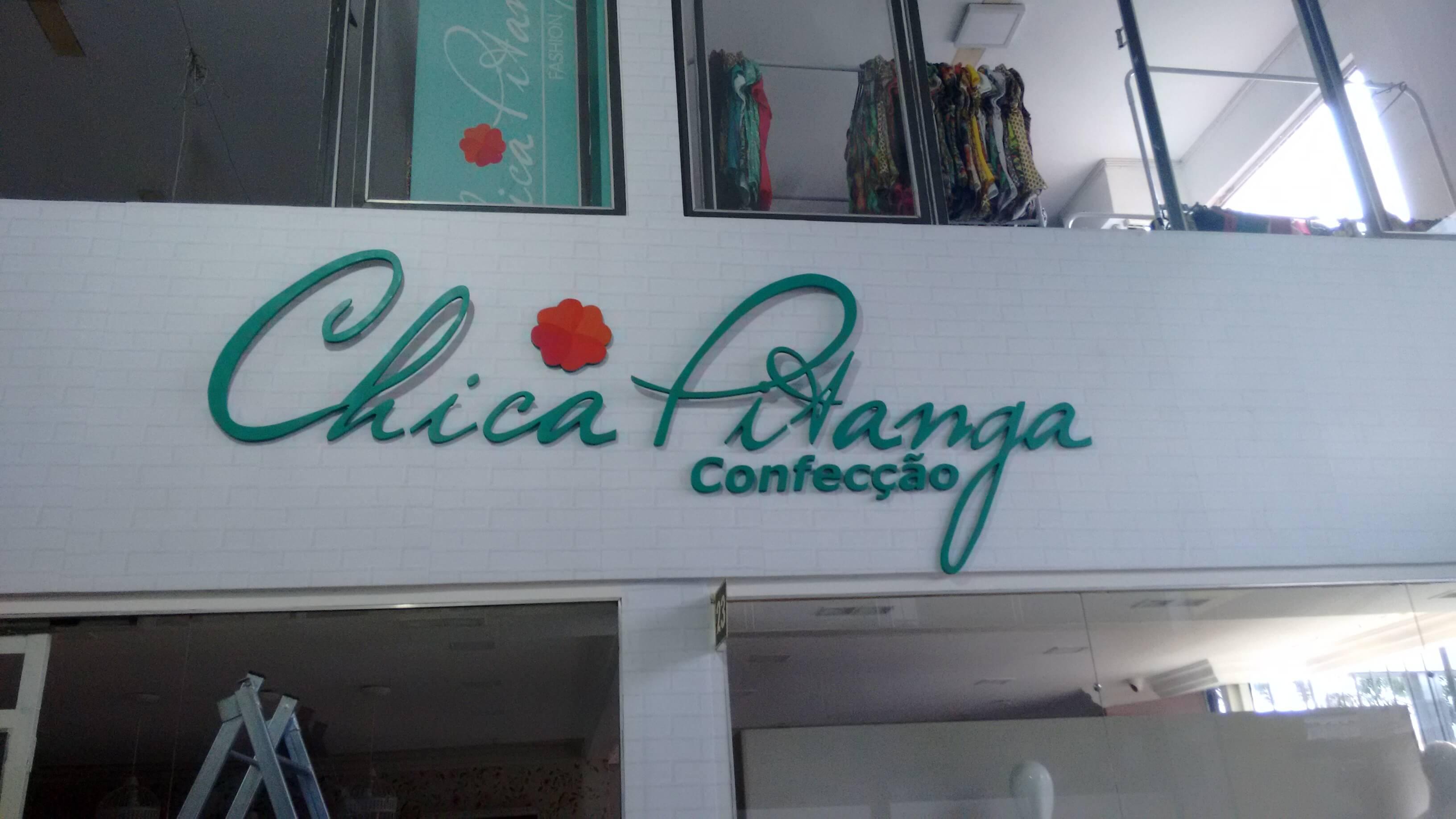 Imagem do serviço da fachada comercial com letra caixa confecção